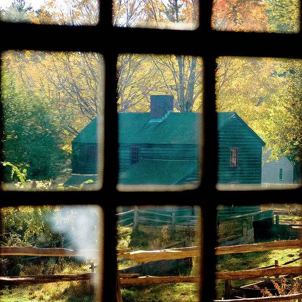 Photograph - Farm In Autumn - Vintage Art by Joann Vitali