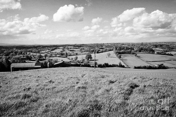 Smallholding Photograph - farm in green irish countryside and farmland in County Cavan Republic of Ireland by Joe Fox
