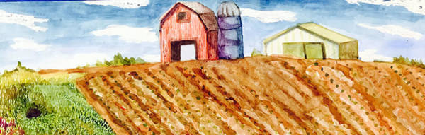 Ditch Painting - Farm In Spring by Jame Hayes