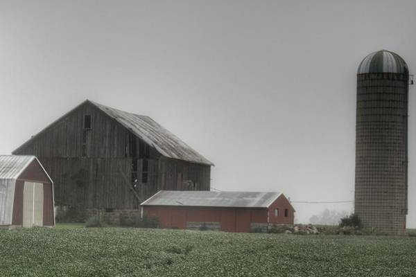 Photograph - 0011 - Farm In The Fog II by Sheryl Sutter