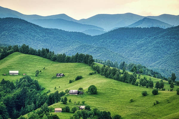 Farm In The Mountains - Romania Art Print
