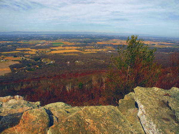 Photograph - Farm Land From Above From Appalachian Trail In Maryland by Raymond Salani III