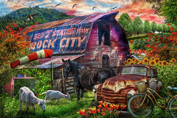 Wall Art - Photograph - Farm Life Along The Country Back Roads In Colorful Hdr by Debra and Dave Vanderlaan