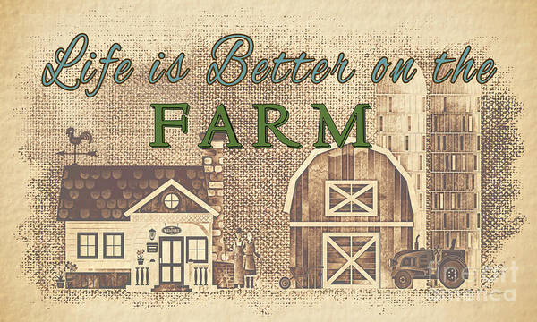 Wall Art - Painting - Farm Life-jp3232 by Jean Plout