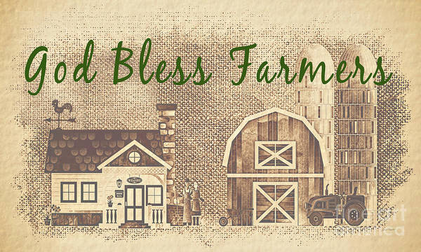Wall Art - Painting - Farm Life-jp3233 by Jean Plout