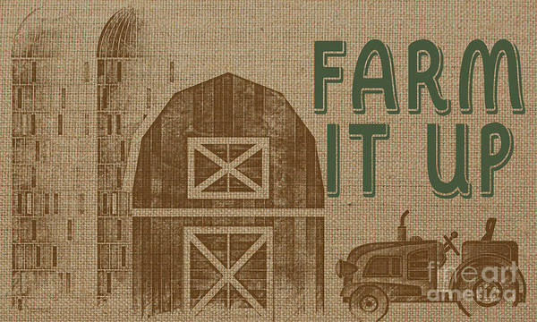 Silo Painting - Farm Life-jp3235 by Jean Plout