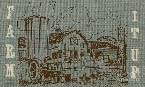 Wall Art - Painting - Farm Life-jp3236 by Jean Plout