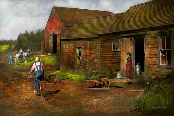 Photograph - Farm - Life On The Farm 1940s by Mike Savad