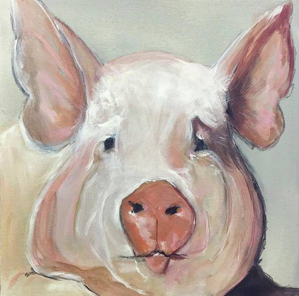 Fat Mixed Media - Farm Life Series#2 by Angie Ellis