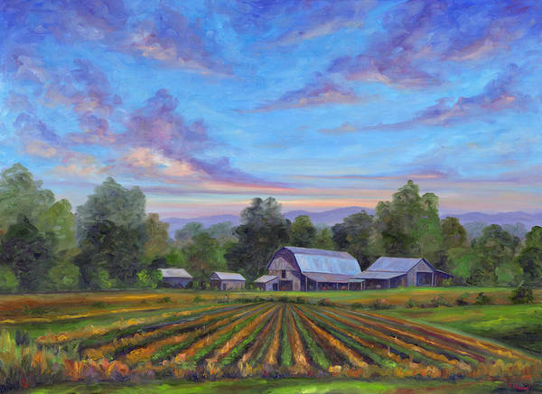 Cotton Painting - Farm On Glenn Bridge by Jeff Pittman