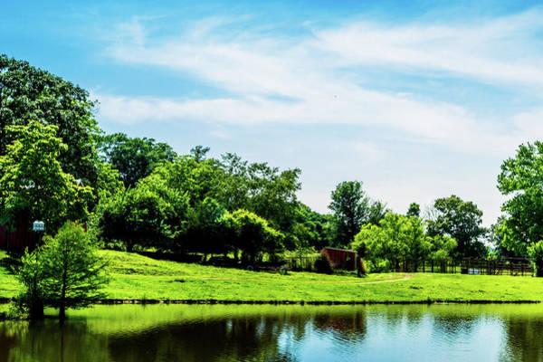 Photograph - Farm Pond - Rural Landscape by Barry Jones