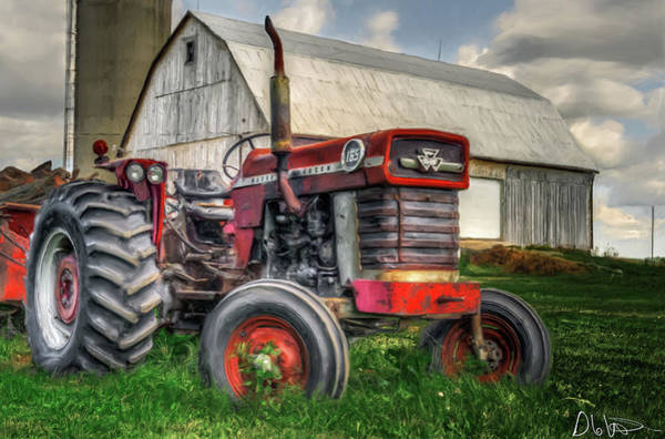 Photograph - Farm Scene - Painting by Garvin Hunter