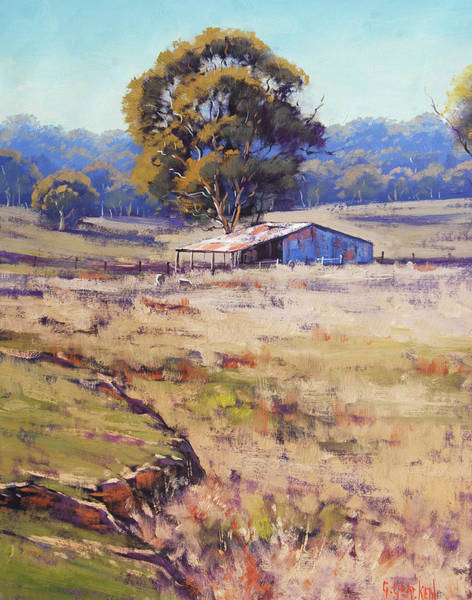 Farm Painting - Farm Shed Pyramul by Graham Gercken