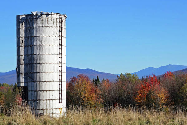 Photograph - Farm Silo In The Autumn Foliage Guildhall Vt Vermont by Toby McGuire