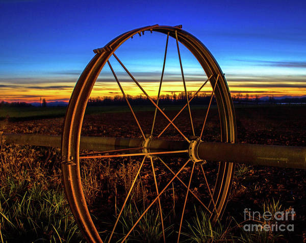 Photograph - Farm Sunset by Michael Cross