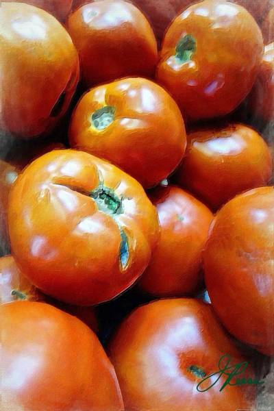 Painting - Farm Tomato by Joan Reese