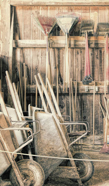 Photograph - Farm Tools by Natalie Rotman Cote