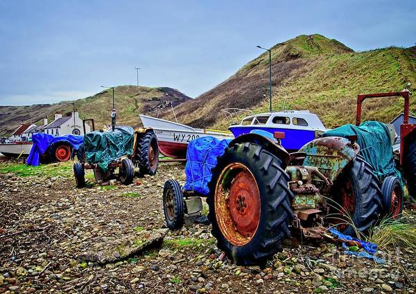 Photograph - Farm Tractors On The Beach by Martyn Arnold