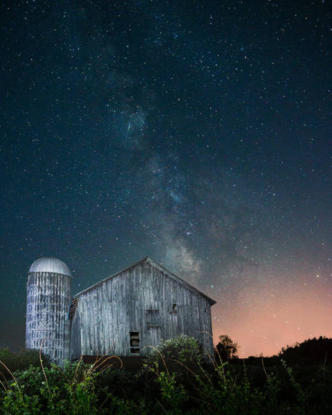 Photograph - Farm Under The Milky Way by Chris Bordeleau