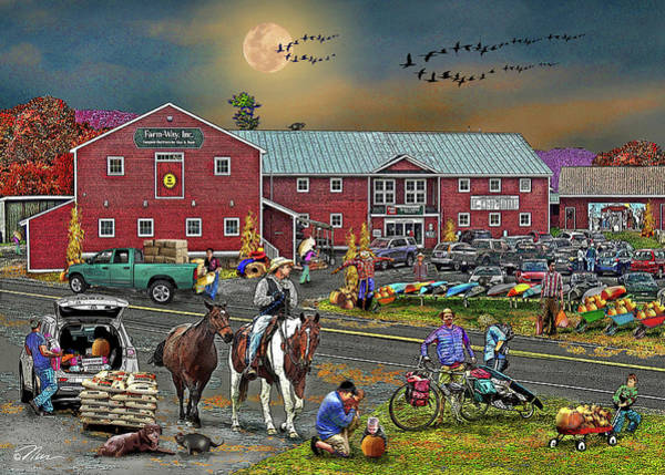 Photograph - Farm Way In Autumn by Nancy Griswold