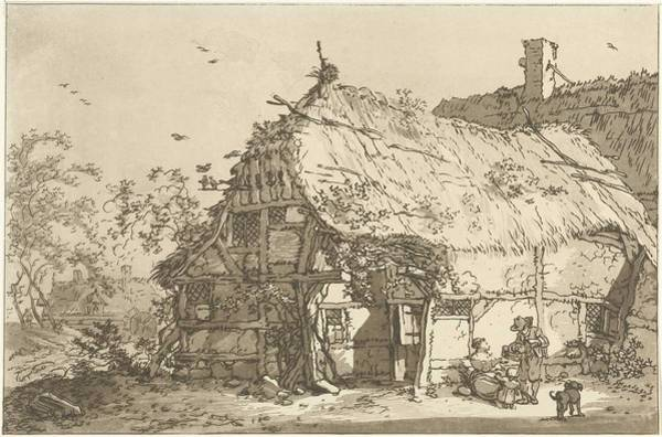 Meijer Painting - Farm With A Family In The Yard, Hendrik Meijer, 1789 - 1793 by Hendrik Meijer
