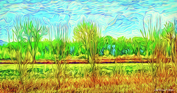 Digital Art - Farm With Flowing Sky - Field In Boulder County Colorado by Joel Bruce Wallach
