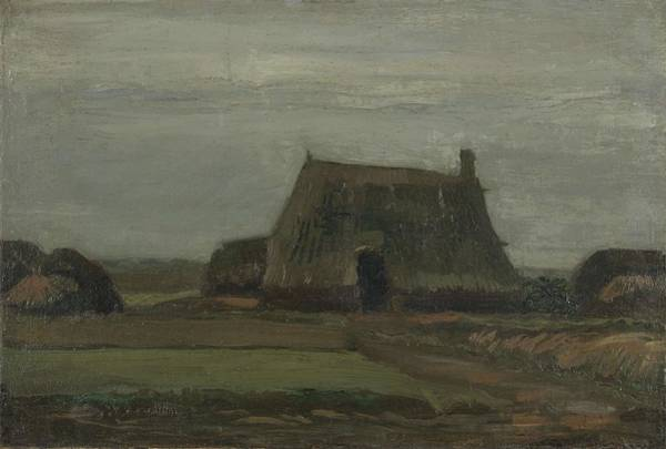 Painting - Farm With Stacks Of Peat Nieuw Amsterdam October 1883 Vincent Van Gogh 1853  1890 by Artistic Panda