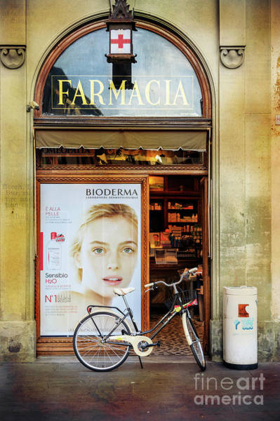 Photograph - Farmacia Bioderma Bicycle by Craig J Satterlee