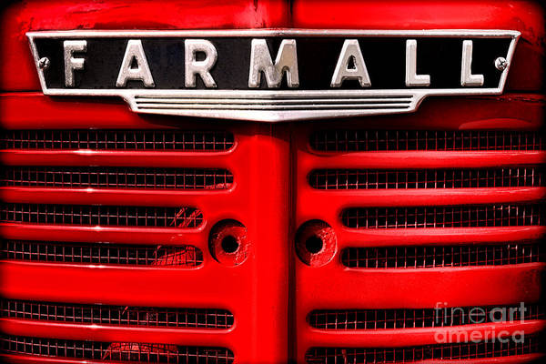 Wall Art - Photograph - Farmall Grille by Olivier Le Queinec