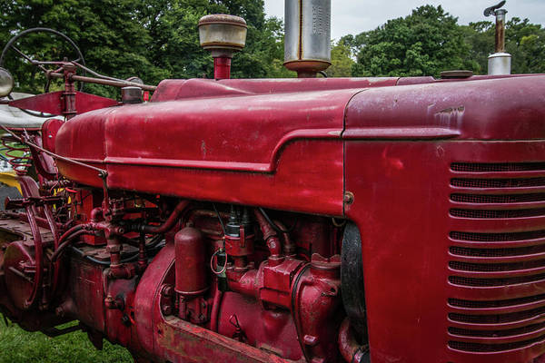 Wall Art - Photograph - Farmall Tractor Motor by Mike Burgquist