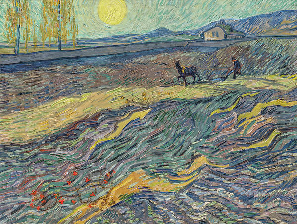 Painting - Farmer In A Field by Vincent Van Gogh