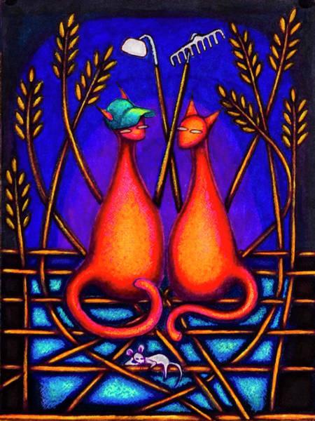Drawing - Farmer Kats by Laurie Tietjen