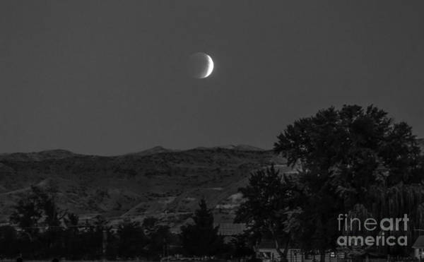 Perigee Moon Photograph - Farmer View Of Supermoon Eclipse by Robert Bales