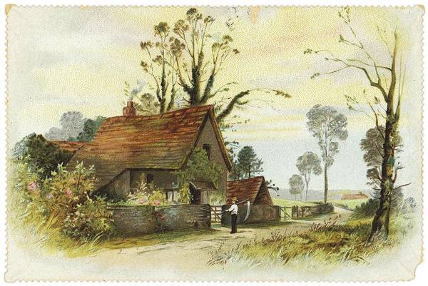 Wall Art - Photograph - Farmer With Cottage Landscape by Gillham Studios