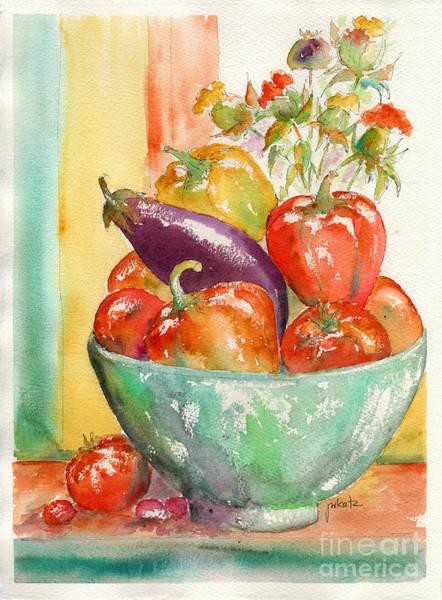 Painting - Farmer's Market Bounty by Pat Katz