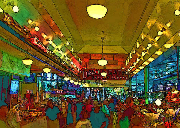 Pikes Place Wall Art - Digital Art - Farmers Market by Dale Stillman