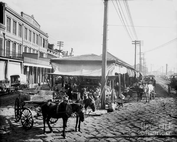 Wall Art - Photograph - Farmers Market New Orleans Ca 1900 by Jon Neidert