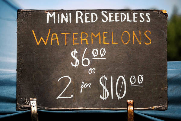 Photograph - Farmers Market Sign by Todd Klassy