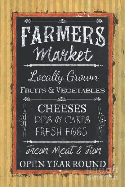 Hen Painting - Farmer's Market Signs by Debbie DeWitt