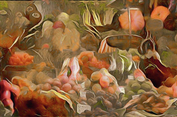Mixed Media - Farmers Market by Susan Maxwell Schmidt