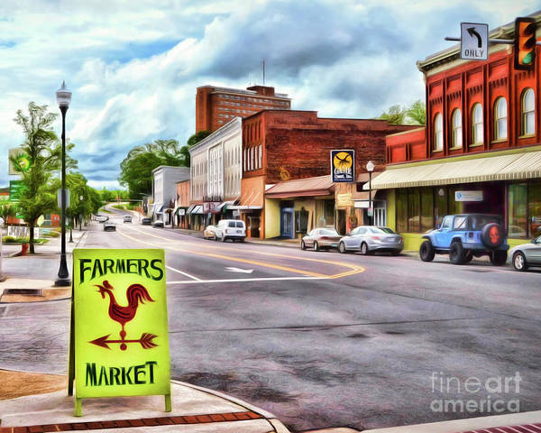Radford Photograph - Farmer's Market This Way - Radford Virginia by Kerri Farley