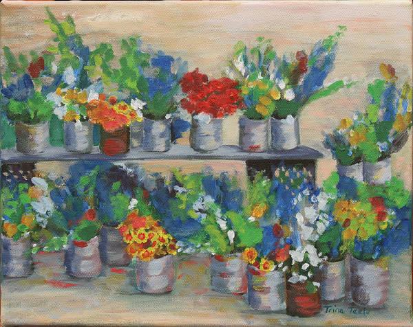 Painting - Farmer's Market by Trina Teele