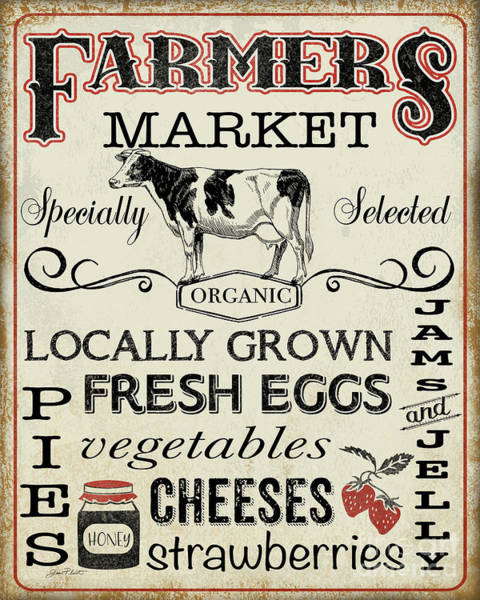 Wall Art - Digital Art - Farmers Organic Market by Jean Plout