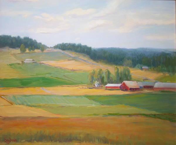 Wall Art - Painting - Farmer's Quilt by Sylvia Carlton