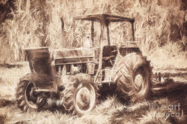 Photograph - Farmers Tractor Working In Australia Farmyard by Jorgo Photography - Wall Art Gallery