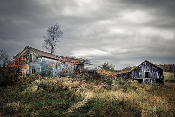 Photograph - Farmhouse Memories by Chris Bordeleau