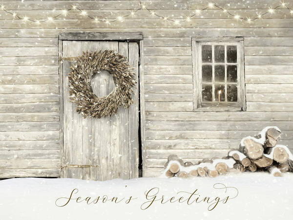 Wall Art - Photograph - Farmhouse Season's Greetings by Lori Deiter