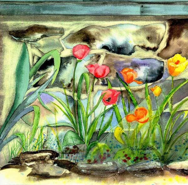 Wall Art - Painting - Farmhouse Tulips by Melody Allen