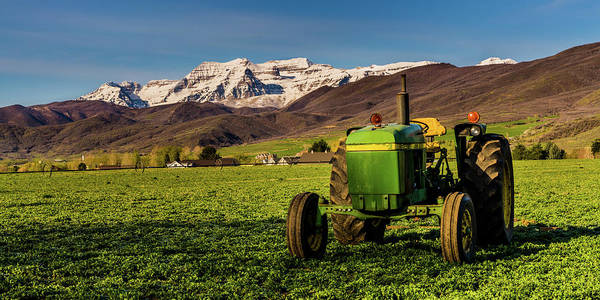Photograph - Farming Beneath Timpanogos by TL Mair