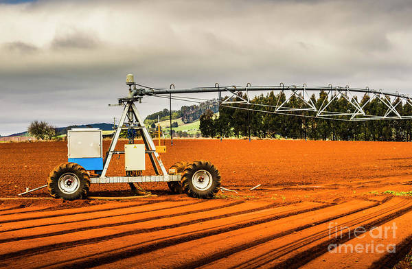 Farm Equipment Photograph - Farming Field Equipment by Jorgo Photography - Wall Art Gallery